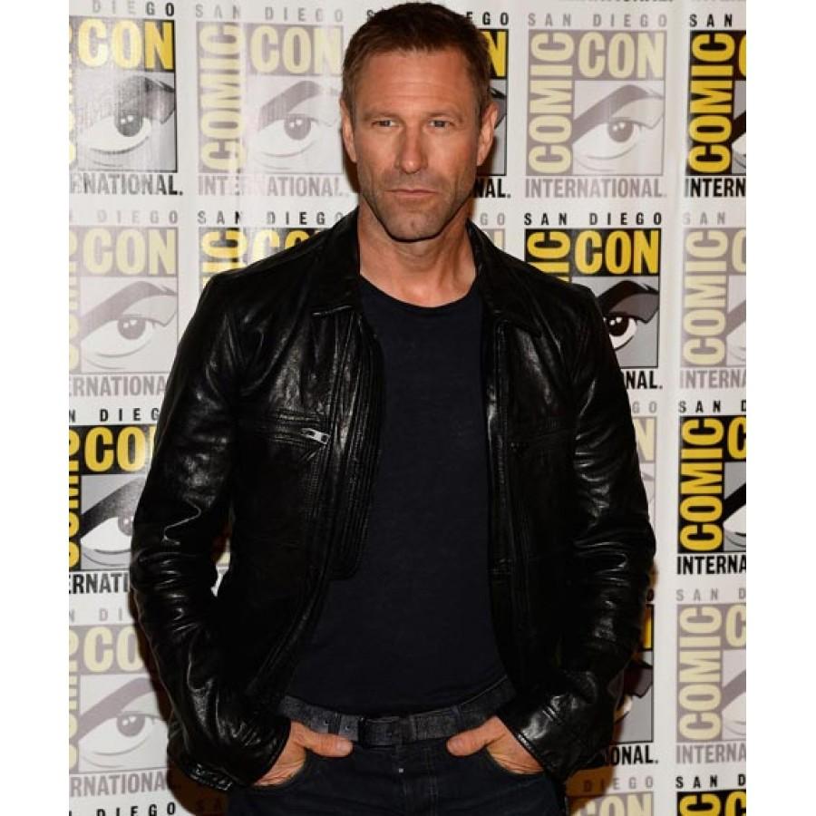 Aaron-Eckhart-Adam-Frankenstein-Leather-Jacket-3