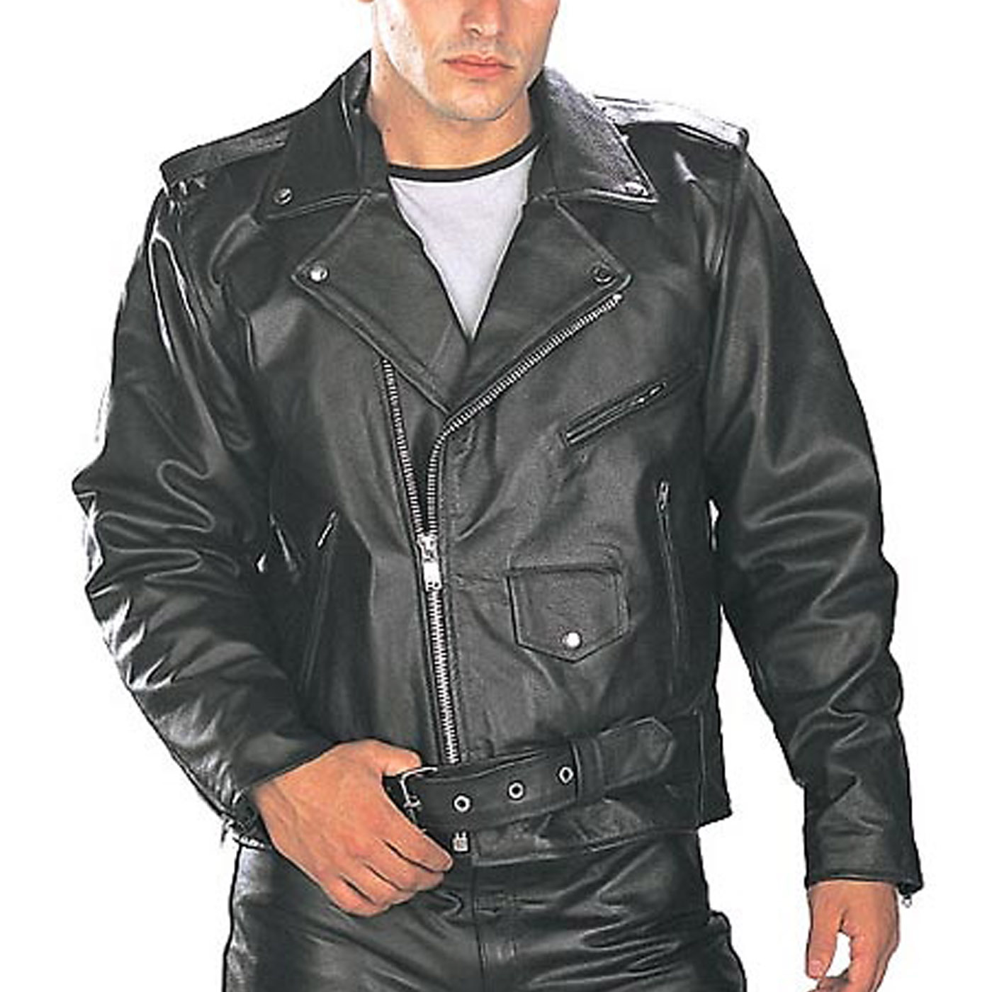 Black-TOP-GRADE-Leather-Motorcycle-Biker-Jacket-1.