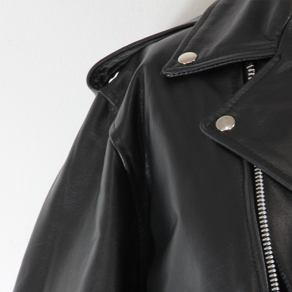 Black-TOP-GRADE-Leather-Motorcycle-Biker-Jacket-3