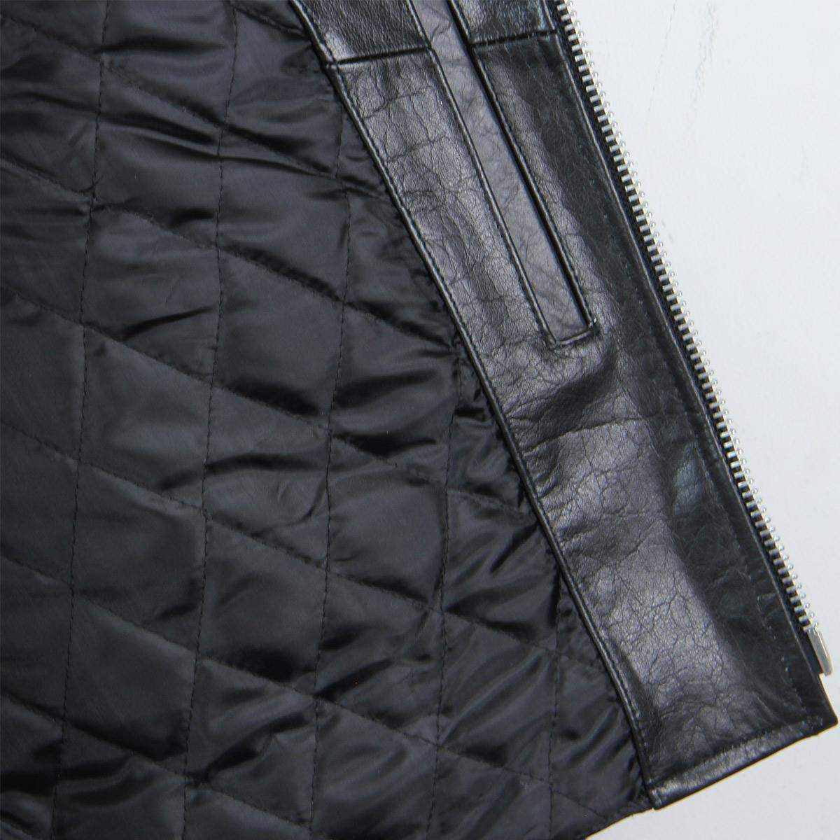 Black-TOP-GRADE-Leather-Motorcycle-Biker-Jacket-4