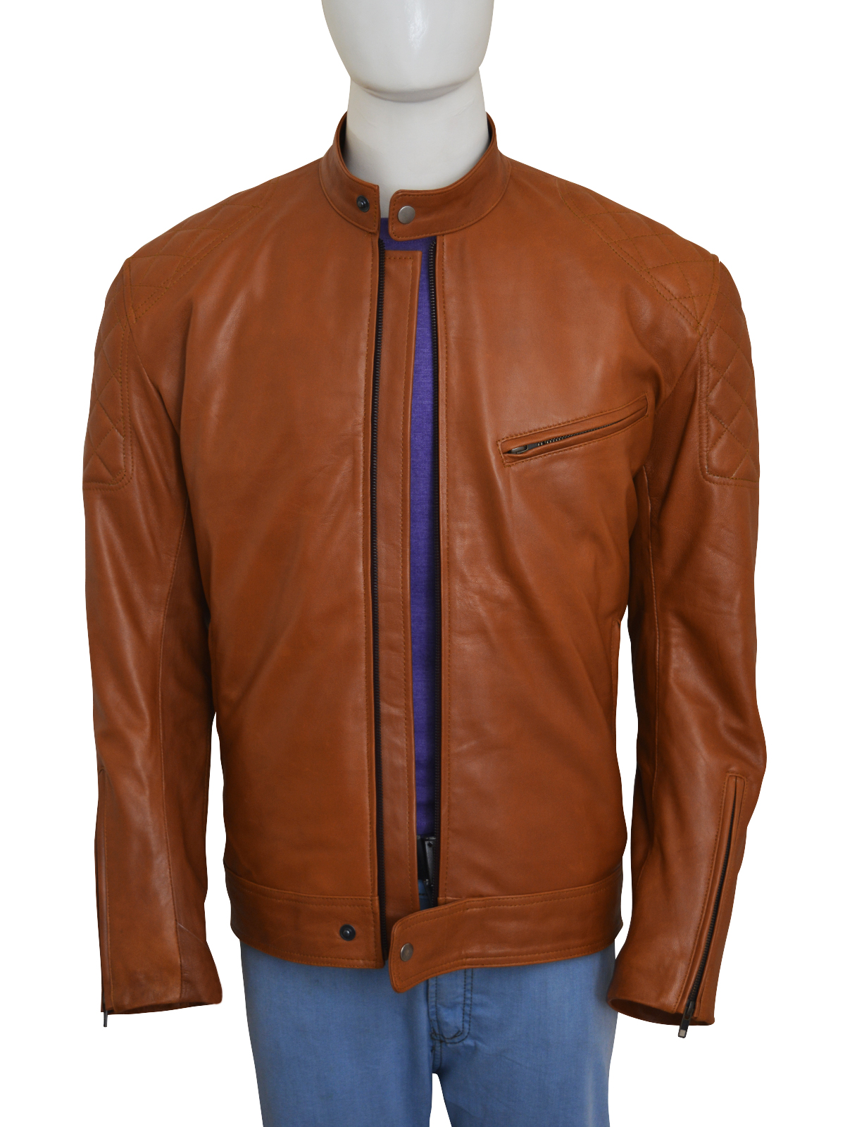 Brown-Biker-Leather-Jacket