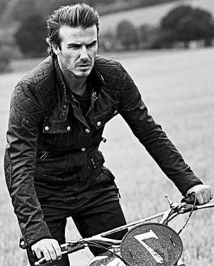 c4d7b37f0 David Beckham Motor Cycle Black Leather Jacket