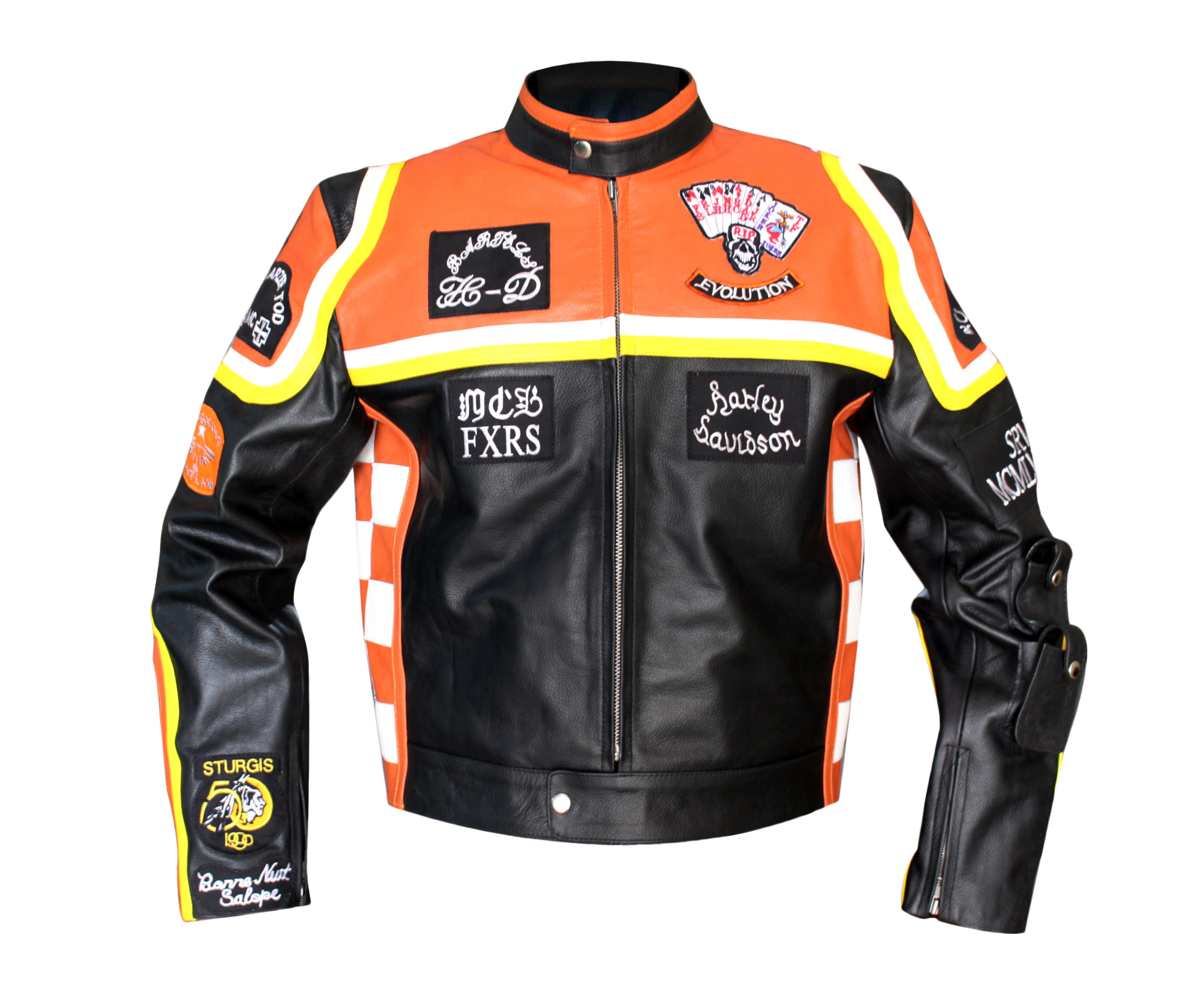 Harley Davidson Marlboro Mans Leather Jacket Mens Leather Jackets