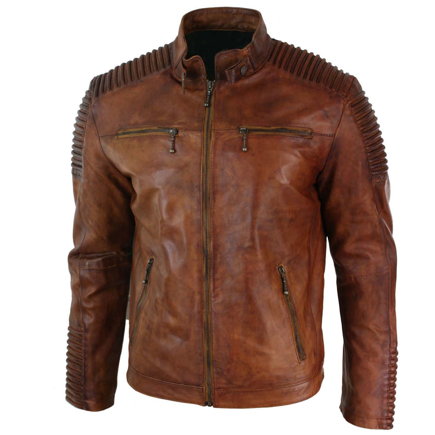 Mens-Biker-Vintage-Cafe-Racer-Wax-Distressed-Brown-Leather-Jacket-1