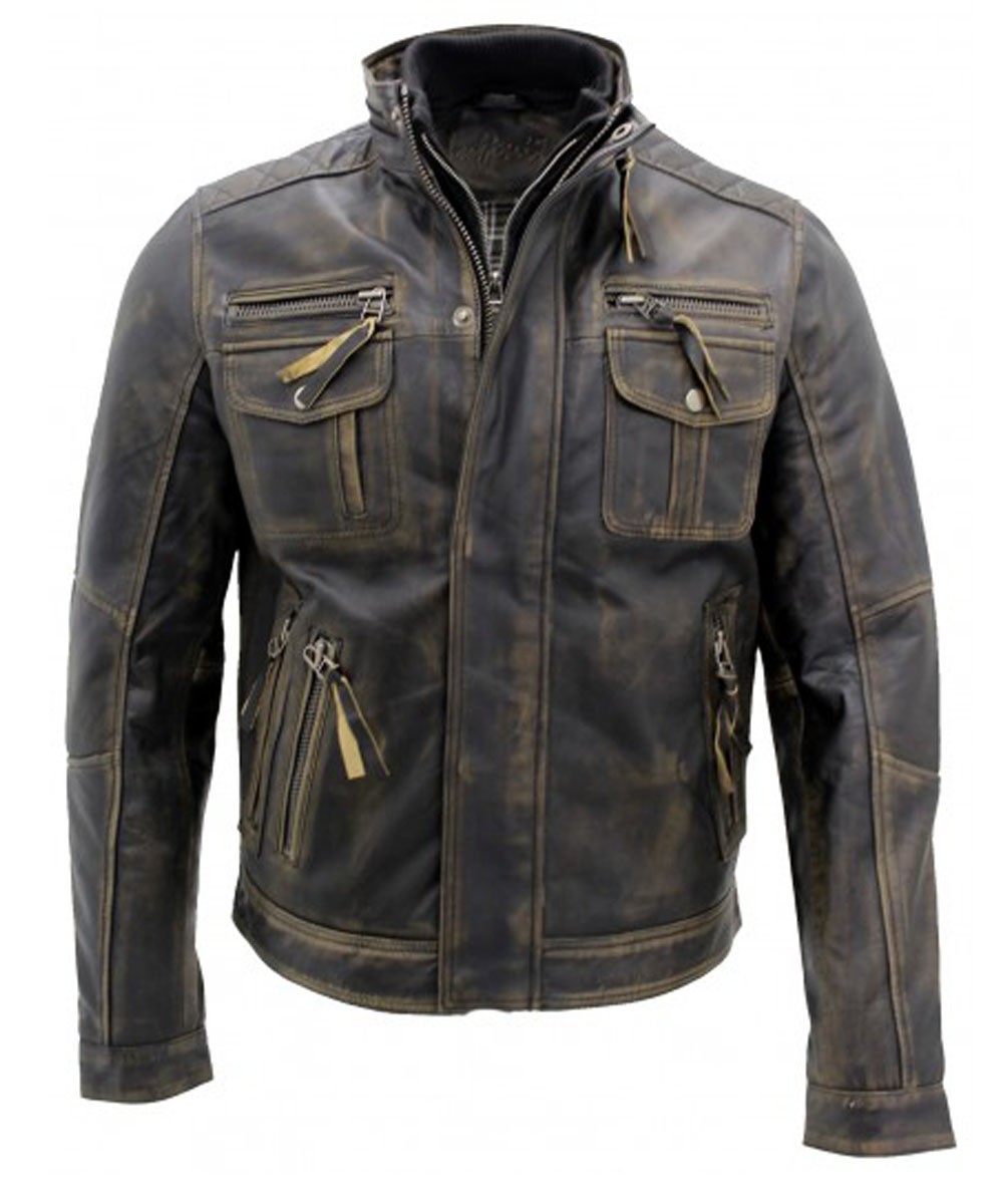 Mens-Vintage-Black-Warm-Leather-Retro-Biker-Jacket…..