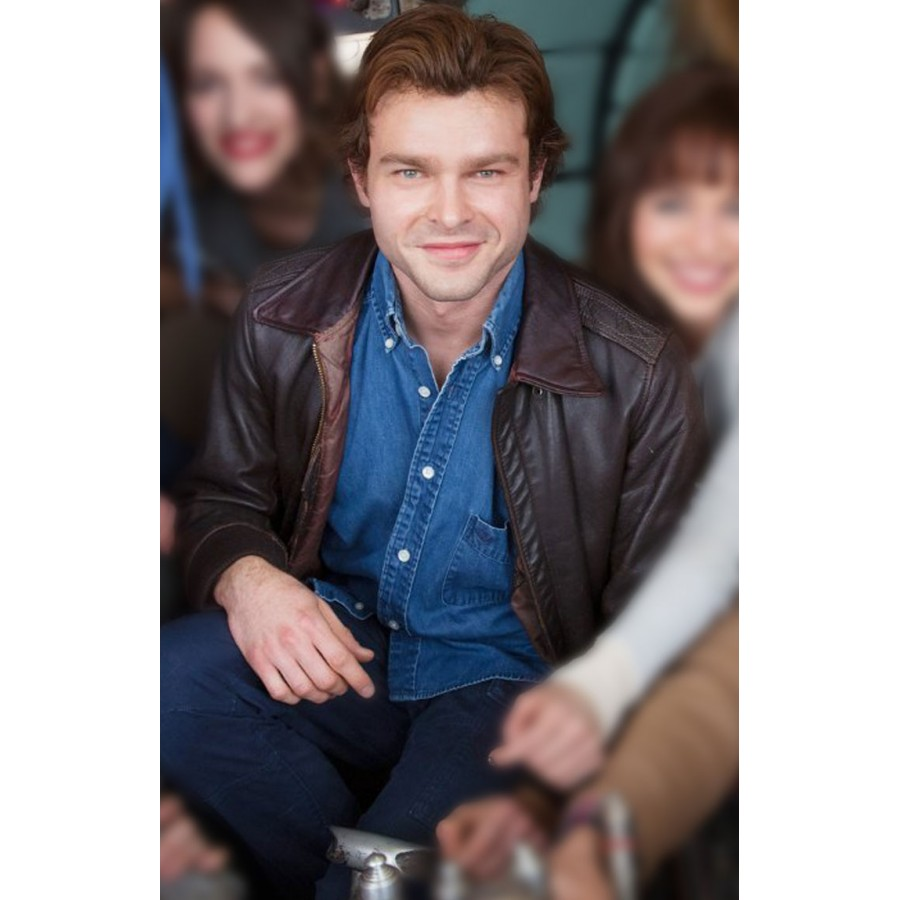 Star-Wars-Story-Alden-Ehrenreich-Brown-Leather-Jacket
