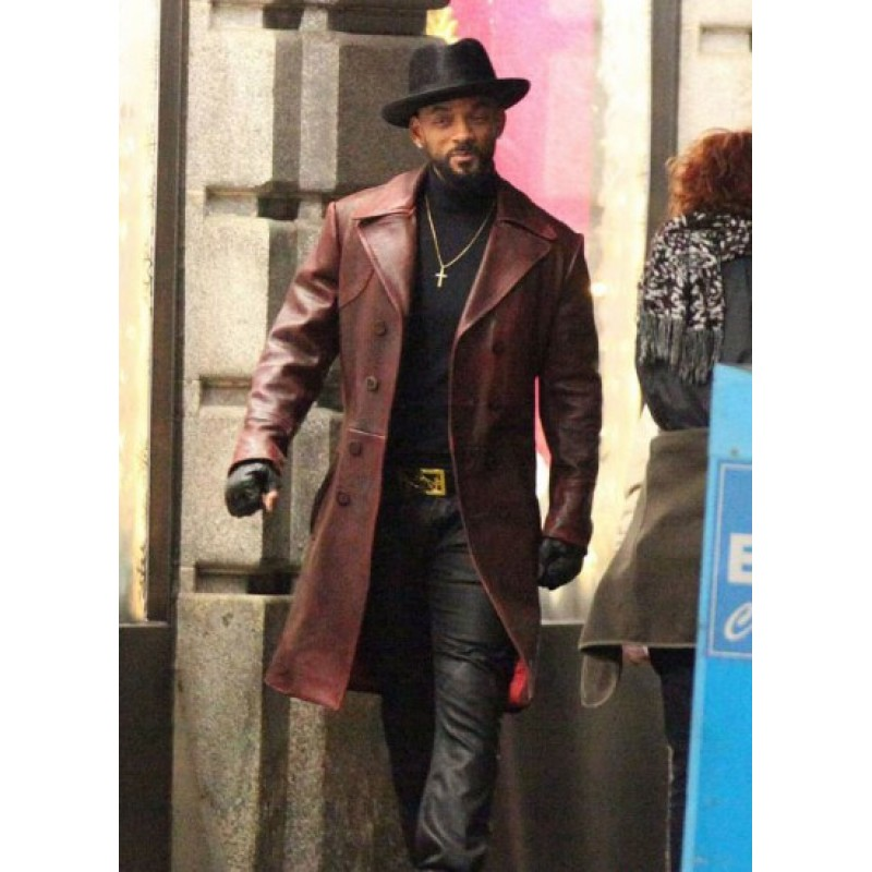 Suicide-Squad-Will-Smith-Deadshot-Trench-Leather-Coat2