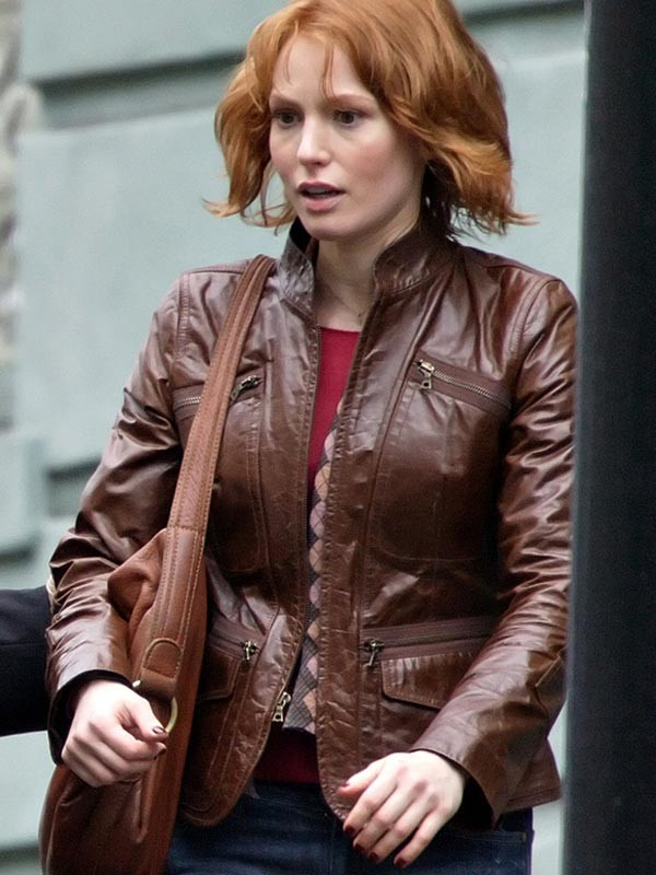 Alicia_Witt_88_Minutes_Brown_Leather_Jacket1