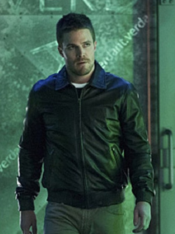 Arrow-TV-Series-Stephen-Amell-Bomber-Leather-Jacket