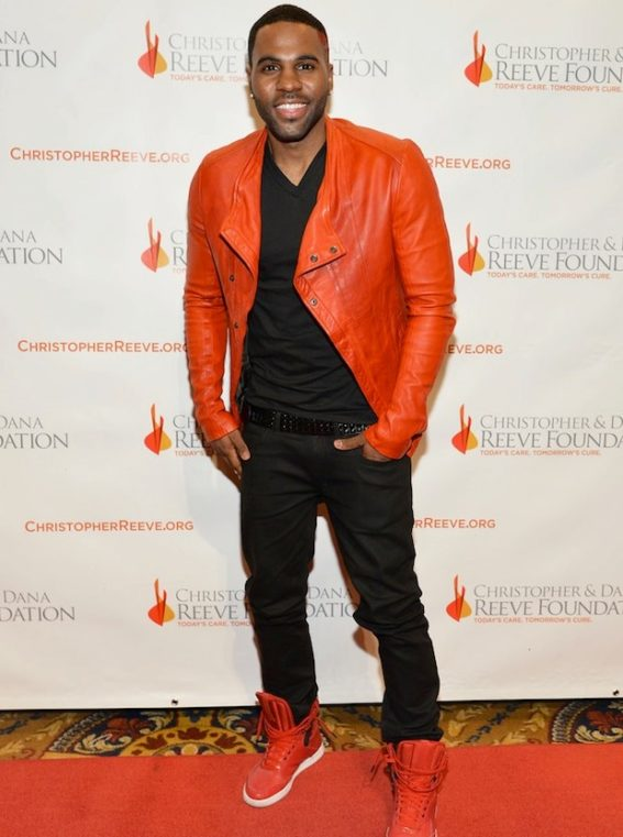 Jason-Derulo-wearing-Julius-Red-Leather-Biker-Jacket-Upscalehype-Christopher-Dana-Reeve-Foundation-Gala-3-1-567×761