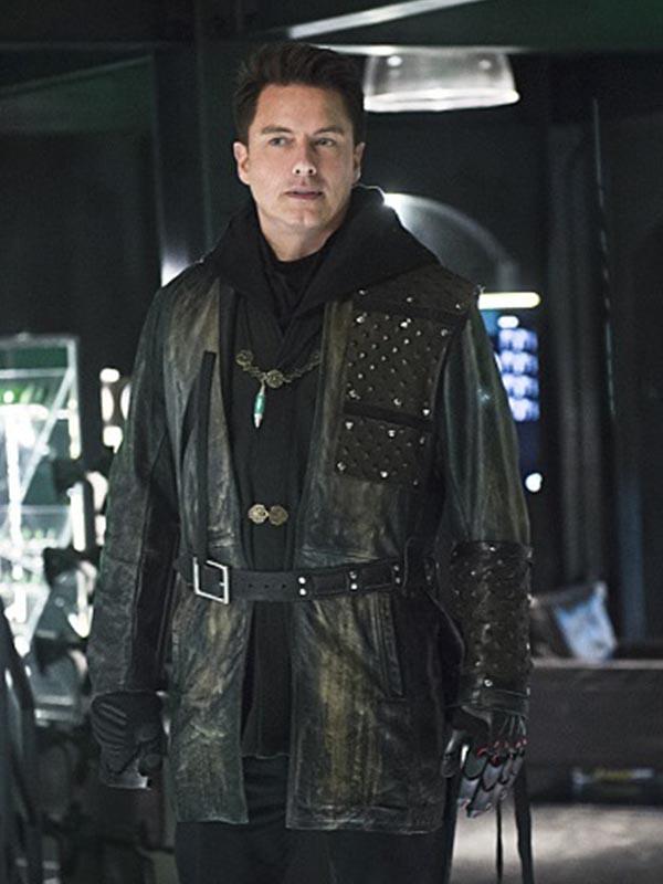 John-Barrowman-Arrow-Malcolm-Merlyn-Leather-Jacket