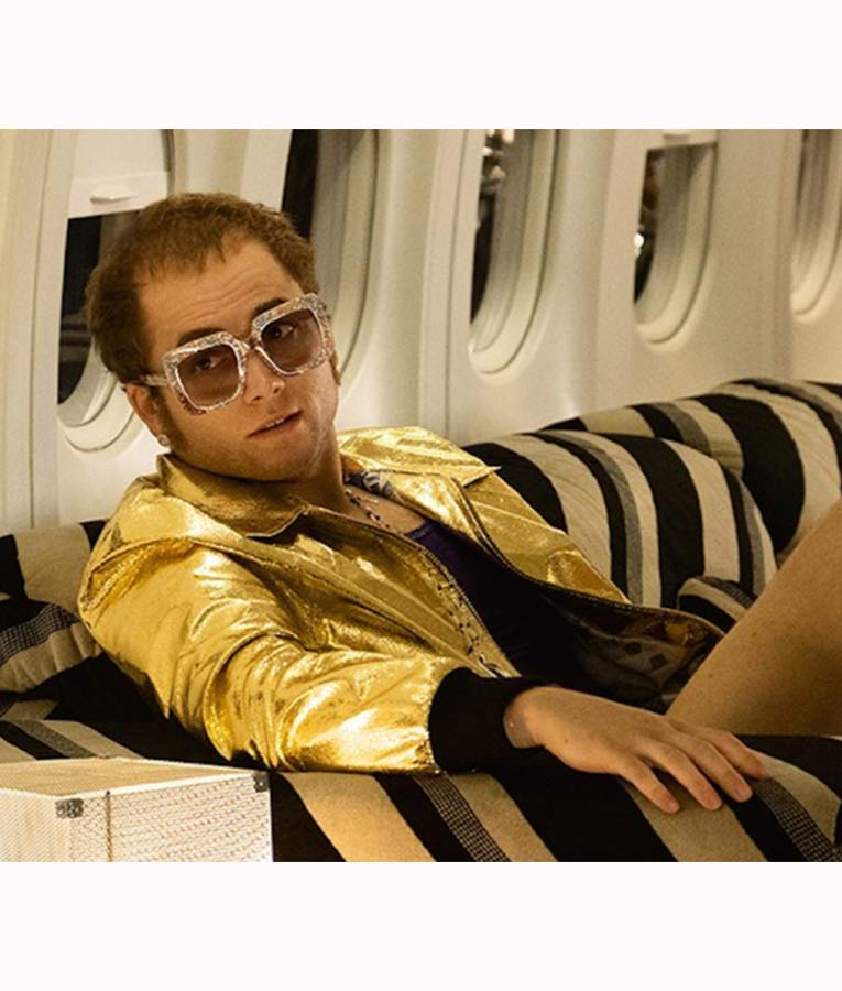 Taron-Egerton-Rocketman-Elton-John-Golden-Satin-Jacket