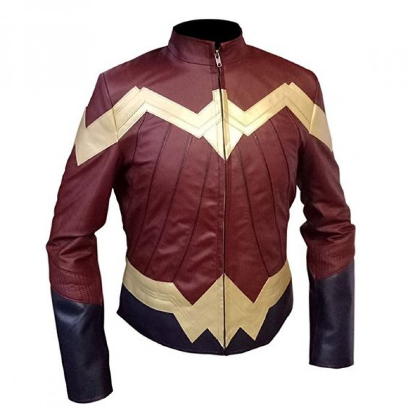 The Outerwear Wonder Woman 2017 Costume Jacket Wonder Woman Gal Gadot Diana Prince Ladies Leather Jacket (1-800×800