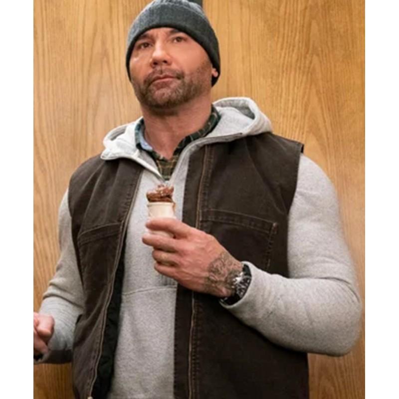 JJ My Spy Dave Bautista Brown Vest