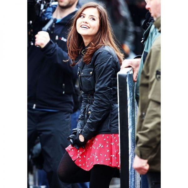 50th Anniversary Clara Oswald Black Leather Jacket1