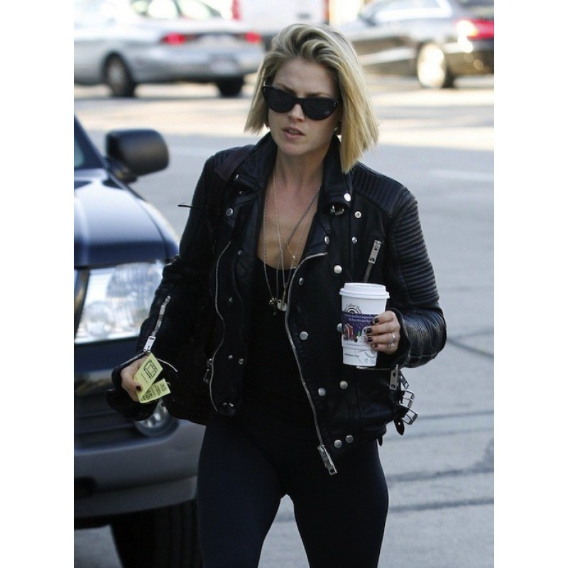 Ali Larter Black Quilted Leather Jacket