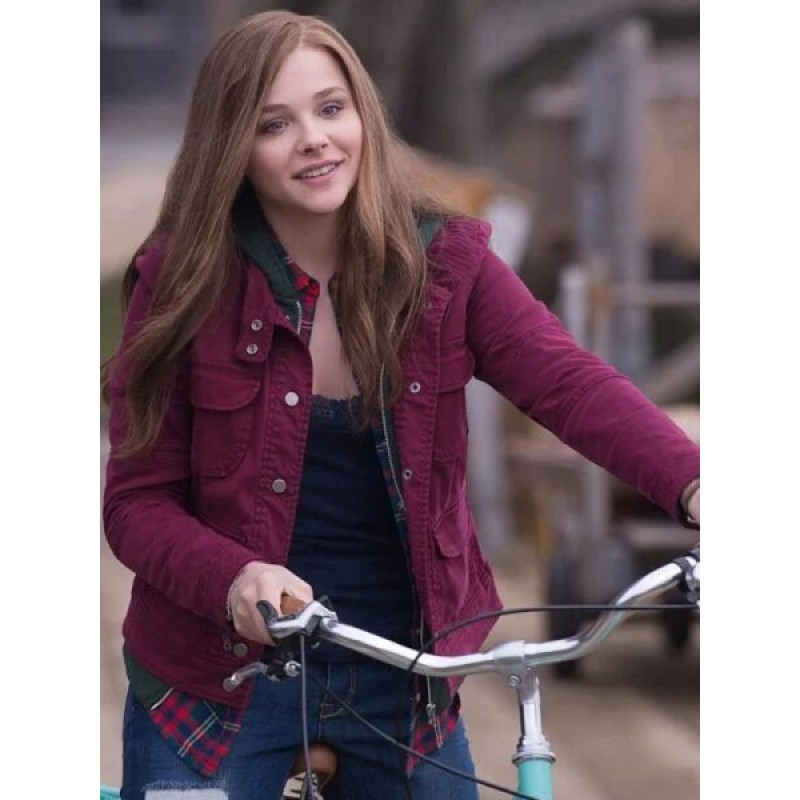 Chiloe Grace Moretz If I Stay Pink Cotton Jacket
