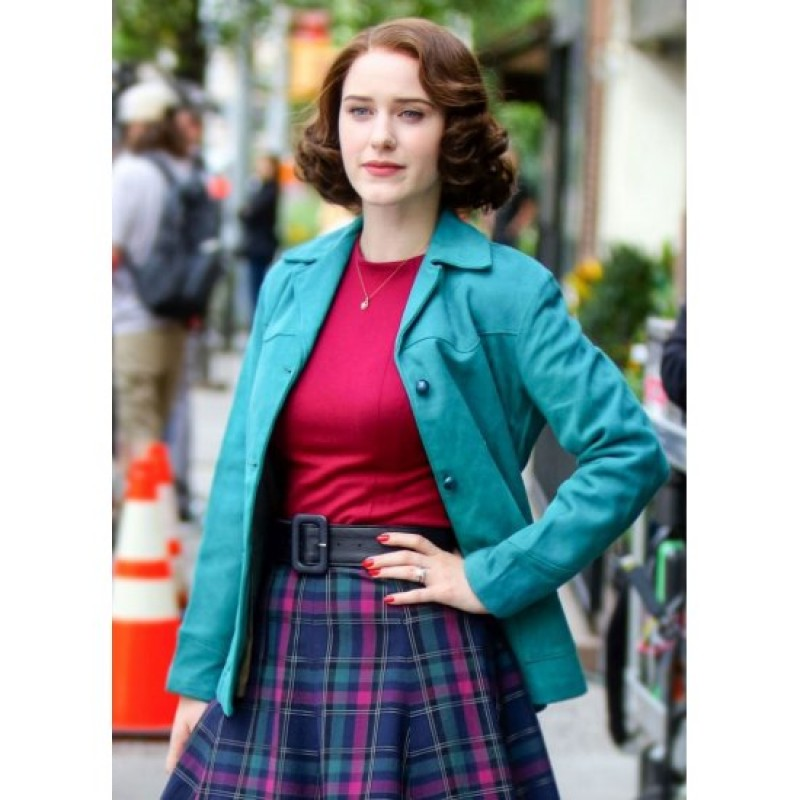 Rachel Brosnahan The Marvelous Blue Cotton Jacket
