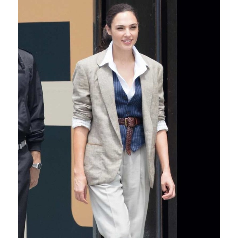 Wonder Woman Gal Gadot Grey Blazer